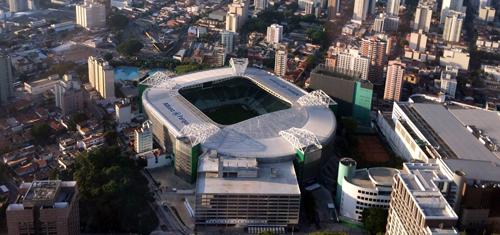 Foto aérea do Allianz Parque (WTorre)
