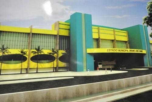 Ilustração de futura fachada do Bruno José Daniel