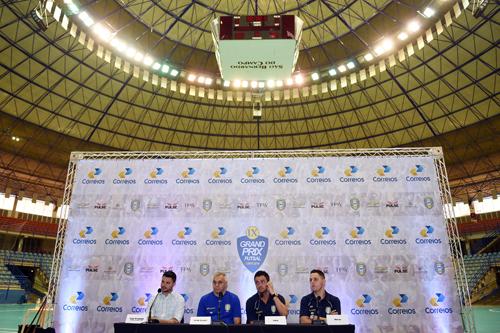 Entrevista coletiva no Poliesportivo de São Bernardo (Gaspar Nóbrega)
