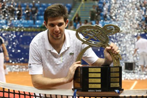 Federico Delbonis, atual campeão, está confirmado para 2015 (Divulgação Brasil Open)