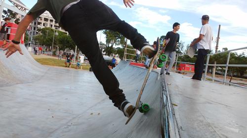 Miniramp para skatistas (Esportividade)