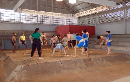 Ginásio de sumô já existente no local (Esportividade)