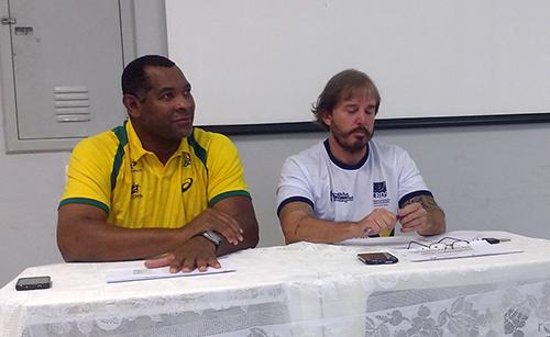 Daniel Suarez, o Cubano, e Carlos Casalino (Esportividade)