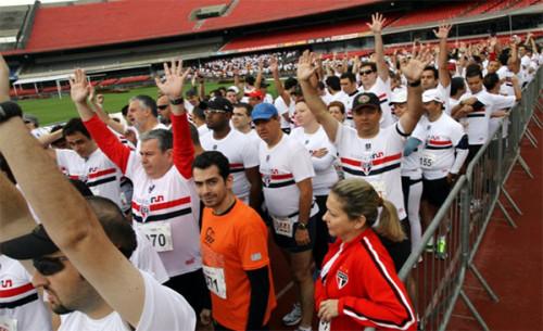 Tricolor Run em 2012 (Fernando Nunes/ saopaulofc.net)