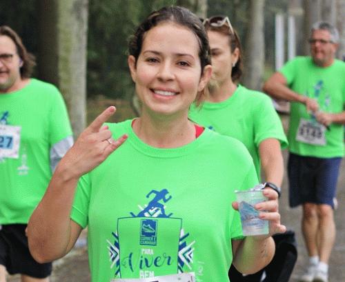 Atleta participante da Correr e Caminhar para Viver Bem no Botânico (Fotop)