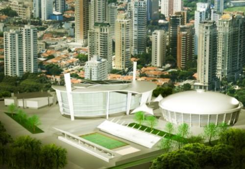 Complexo esportivo depois de obras poderá ficar assim (Governo do Estado de São Paulo)