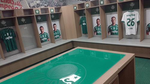Vestiário do Palmeiras no Allianz Parque (Esportividade)
